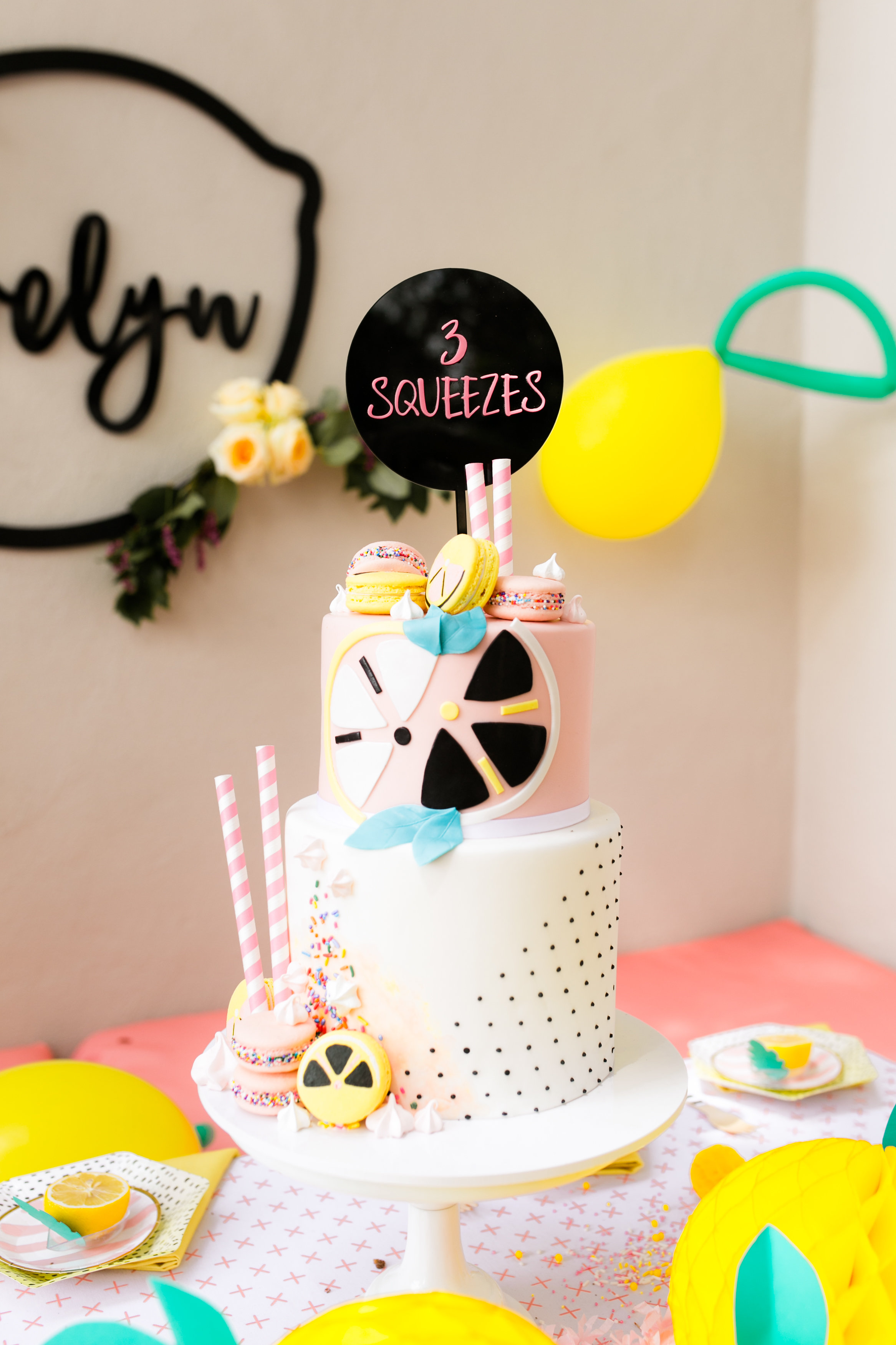 Lemonade Kids Birthday Party - Custom Birthday Cake from Jenny Wenny Cakes