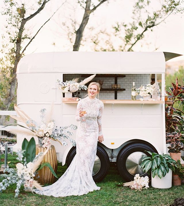 My favorite little mobile bar from @thetypsygypsybar!  A 2019 trend for all brides out there looking to up their game.  This little horse trailer has all the moves and is available to rent in SoCal.  Let us style her for you and make it one epic day!  @wisteriaphotography | @forrestandj | @heartandfrond | @galialahav | @saltedblooms #mobilebar #ongws #galialahav #2019bride #styledshoot #socalwedding #plantstyling #cocktailhour #2019weddings #2019weddingtrends #horsetrailerbar #weddingrentals #weddingstylist #eventstylists #socaleventplanner