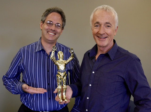 Me (left) with C3PO. And Anthony Daniels. (Photo by David Woo)