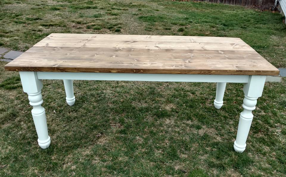 6' Farmhouse table with turned legs