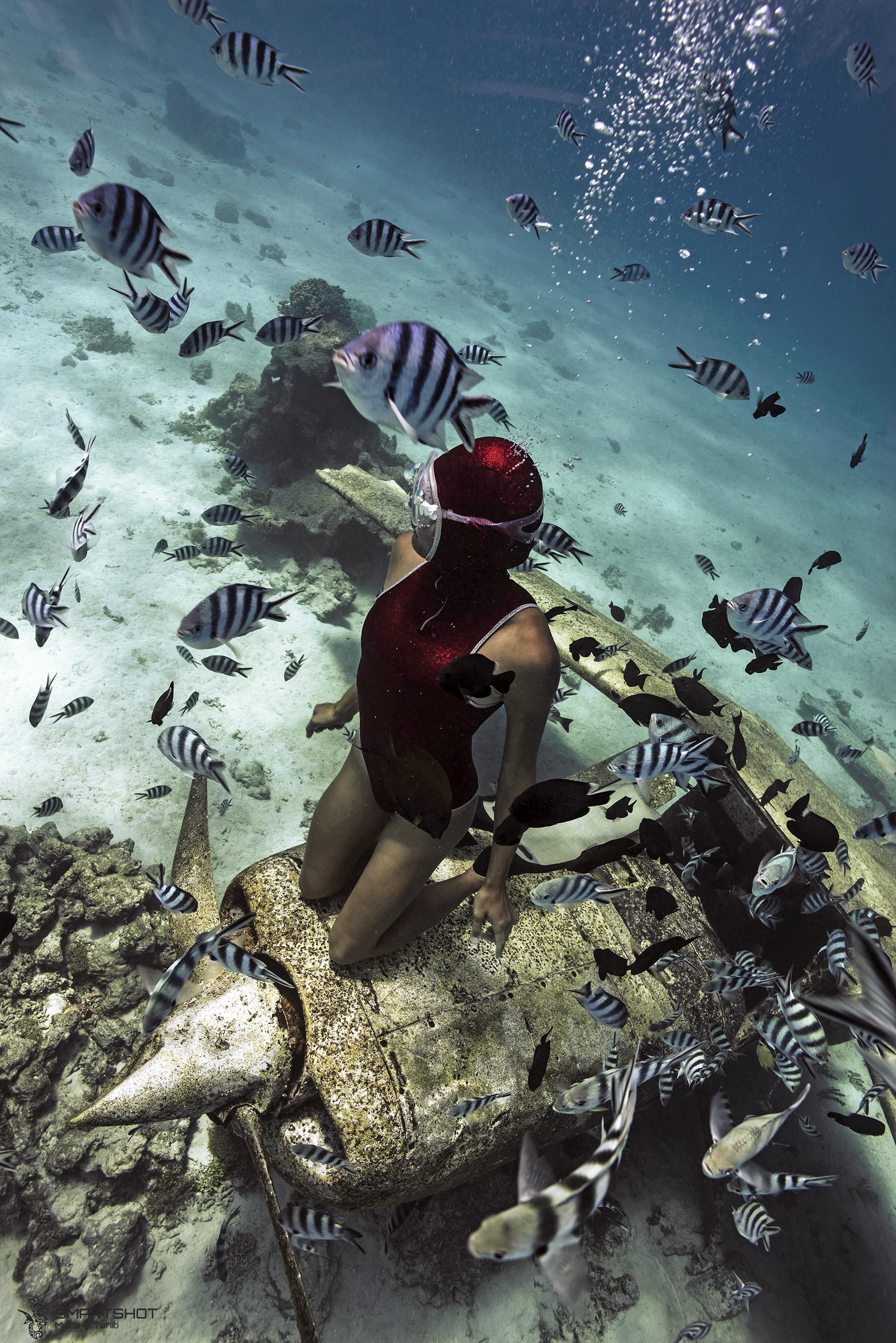 tahiti, underwater photography, lagoon;