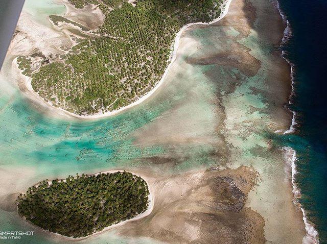 Aerial view of Kaukura, Tuamotu, French Polynesia  #smartshot #aerial #Kaukura #tahiti #tuamotu