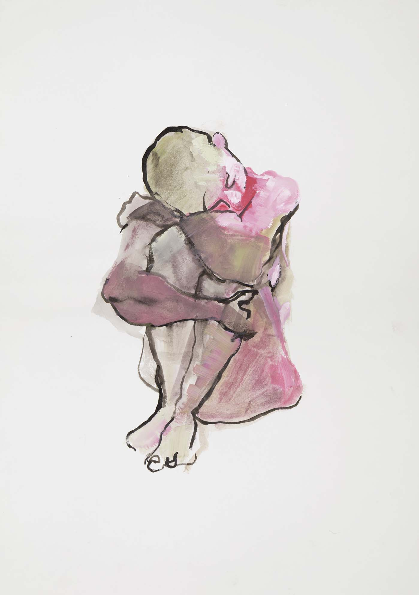Woman B, 2007. Ink, wash and watercolour on paper, w49 x h69cm (w53 x h73cm framed).   Limited edition giclée prints available