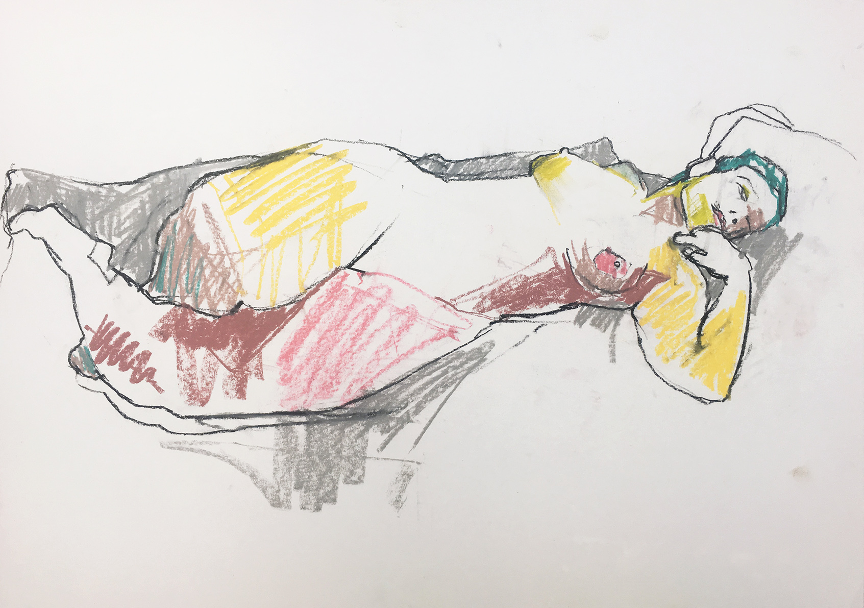 Study with Colour of Reclining Nude.jpg