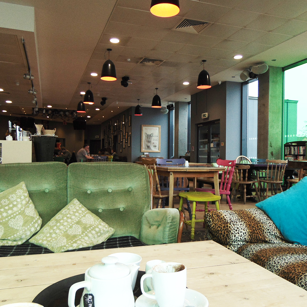 Cult Cafe, Ipswich, Waterfront, Sofa, Green