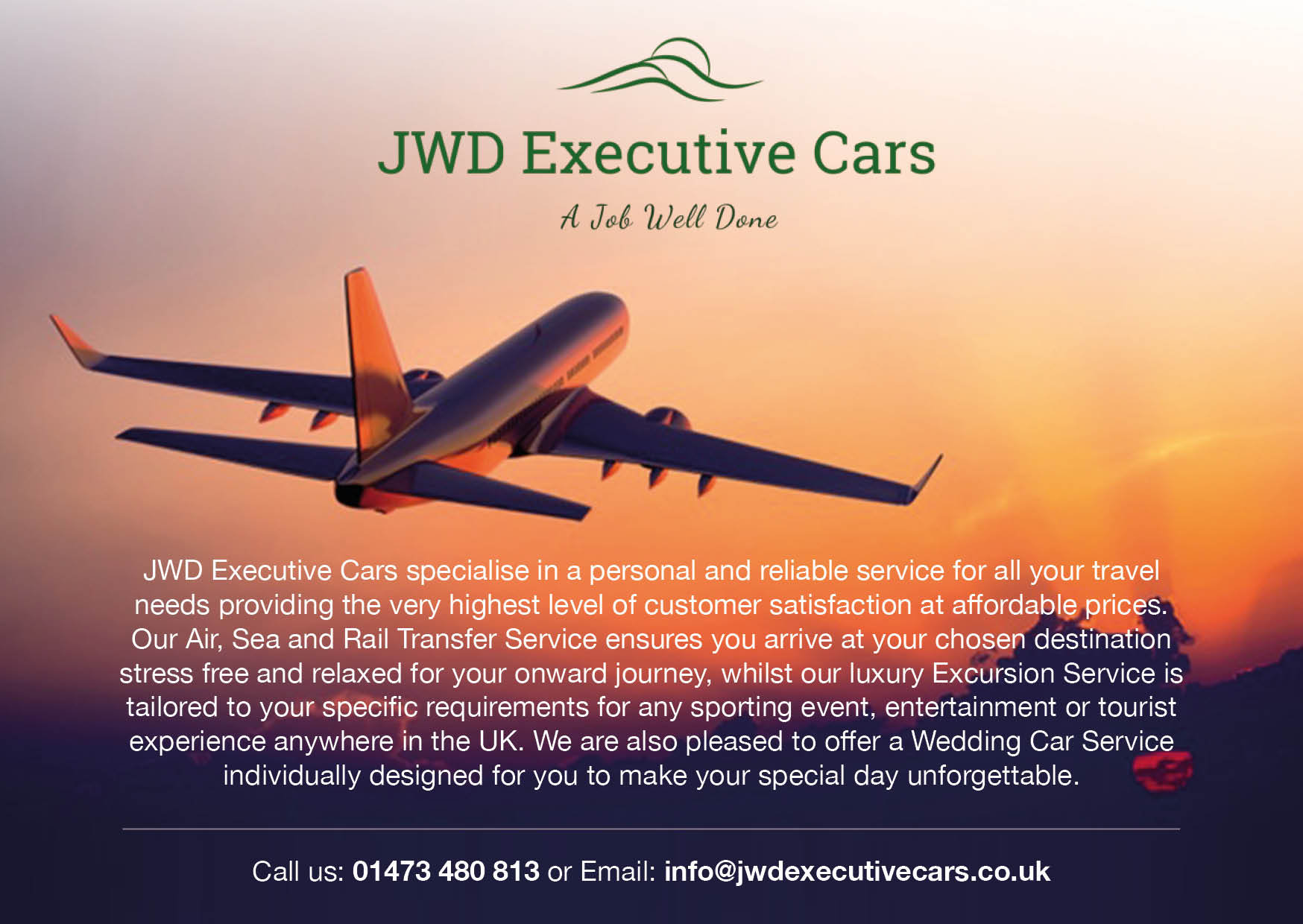 JWD executive cars, airport transfer, taxi, ipswich