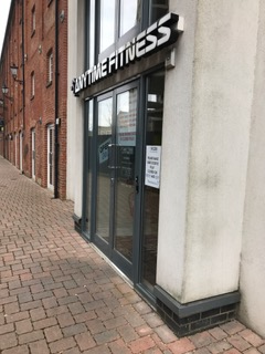 anytime fitness, ipswich waterfront, brick building, front