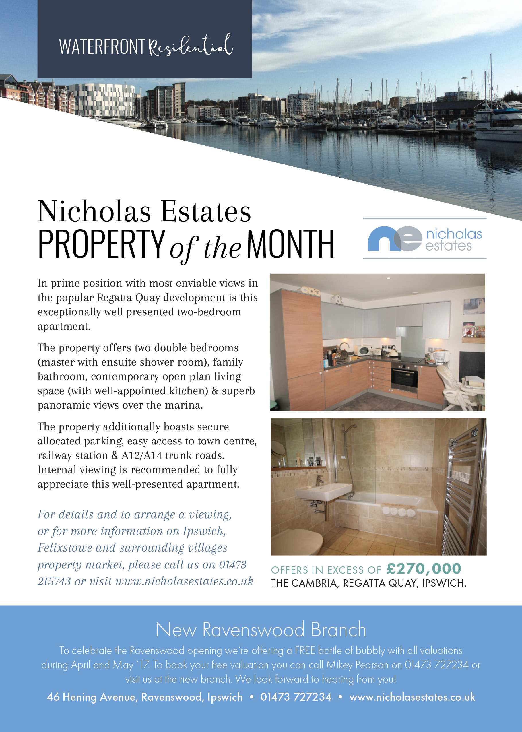 nicholas estates, property of the month, waterfront, ipswich