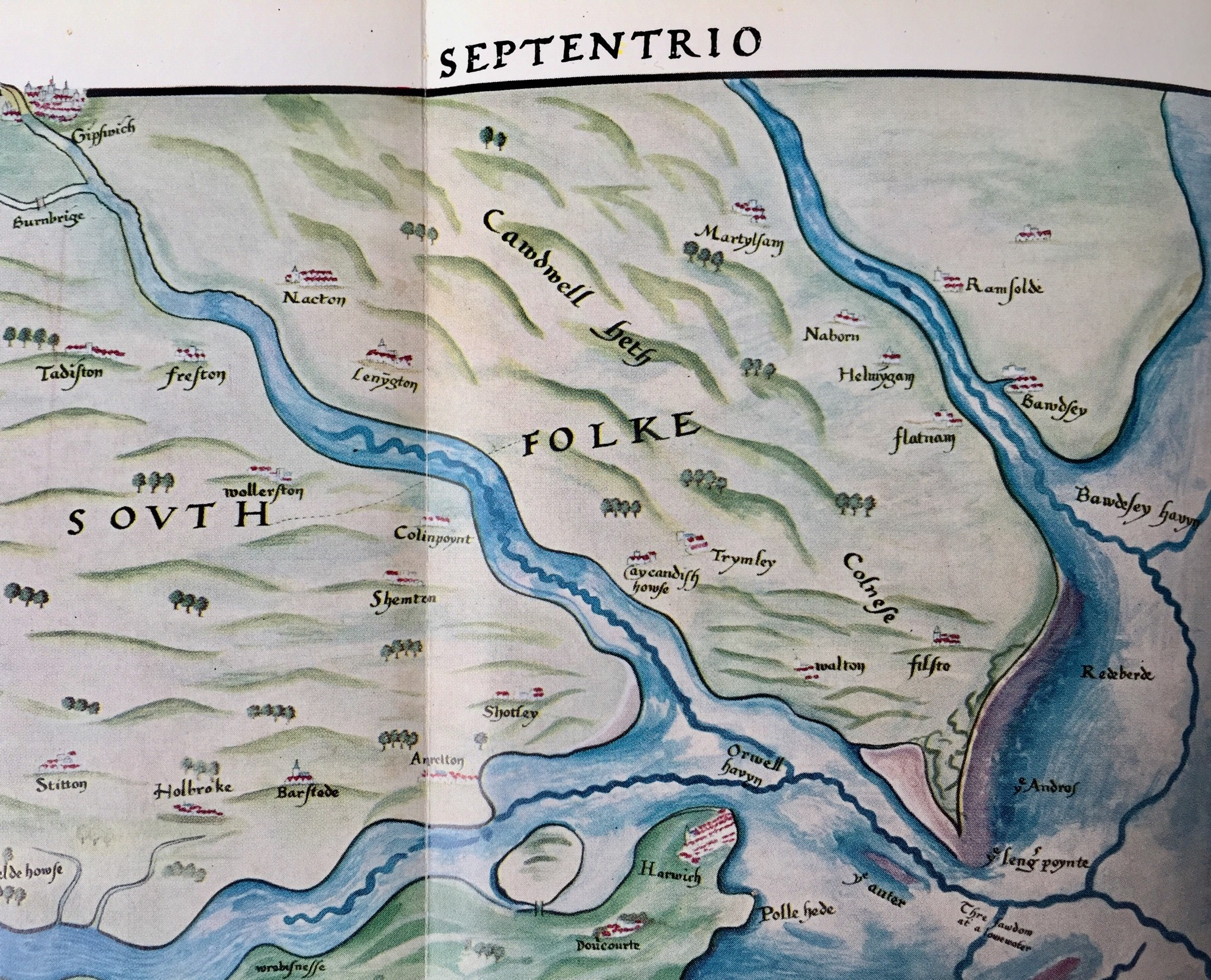 Part of a Chart of the Orwell Haven,  temp, Henry VIII