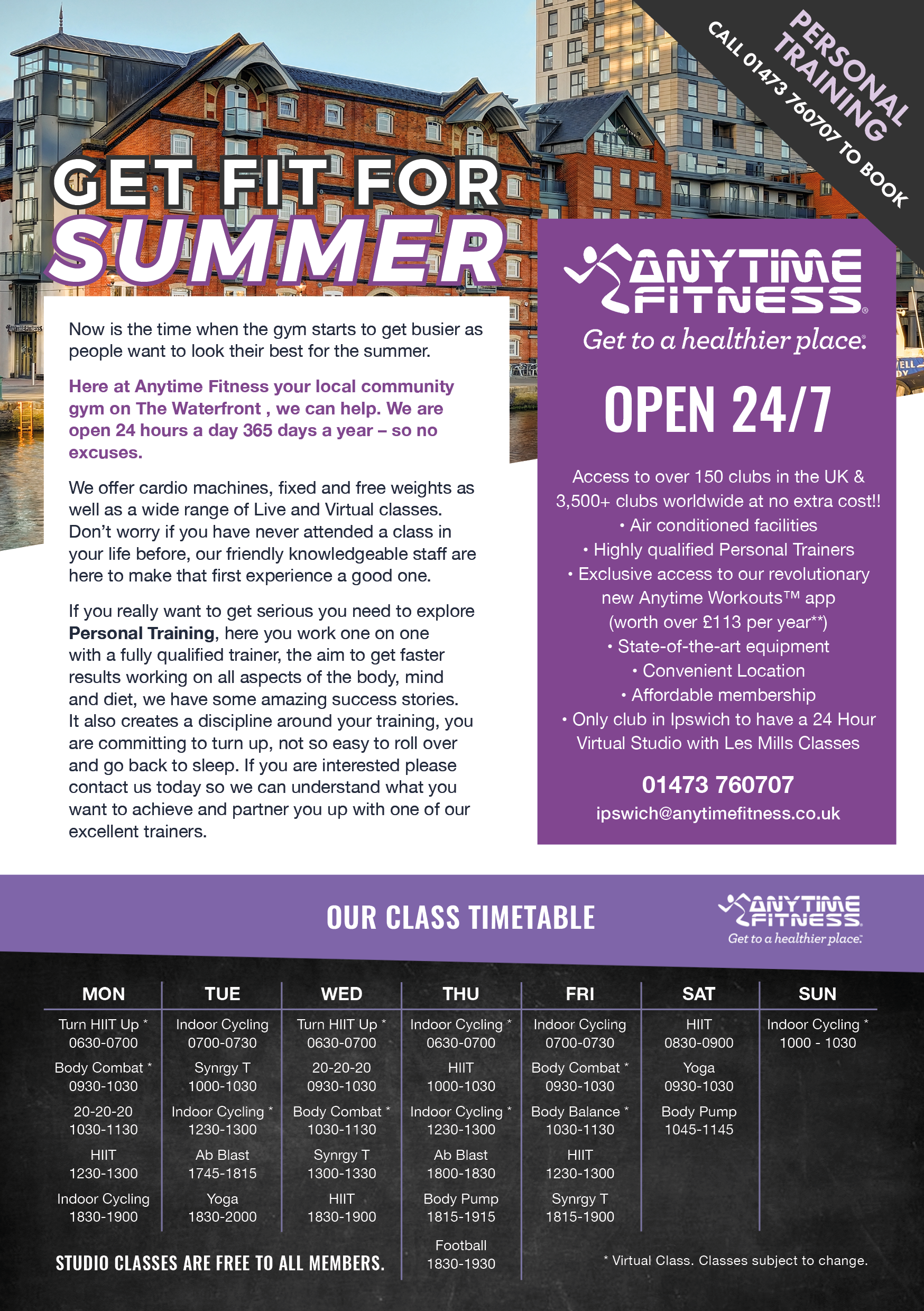 anytime fitness, ipswich, waterfront