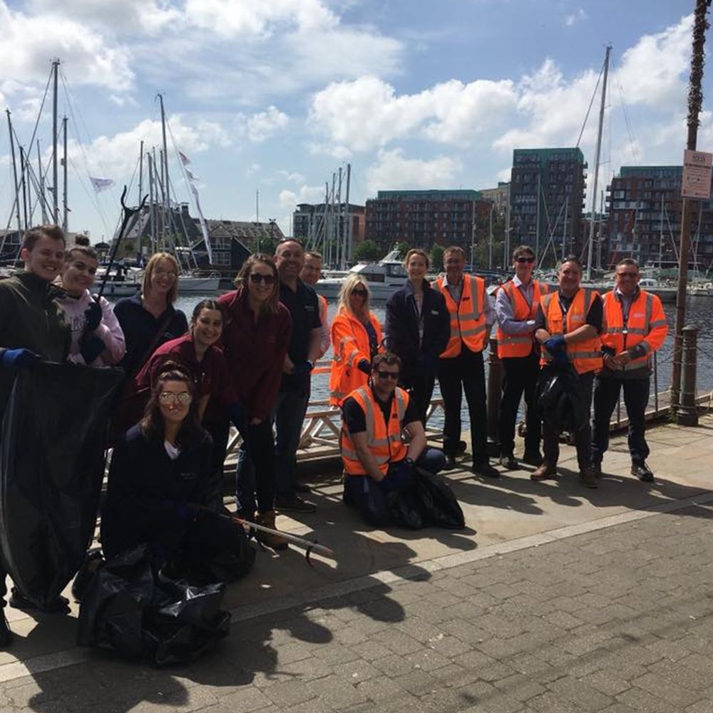 ipswich waterfront cleanup with ABP