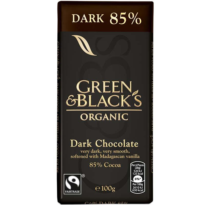 green & blacks dark chocolate