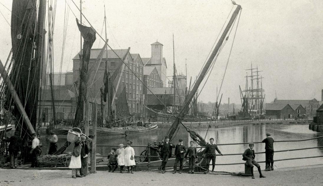 st peter's dock, ipswich, waterfront