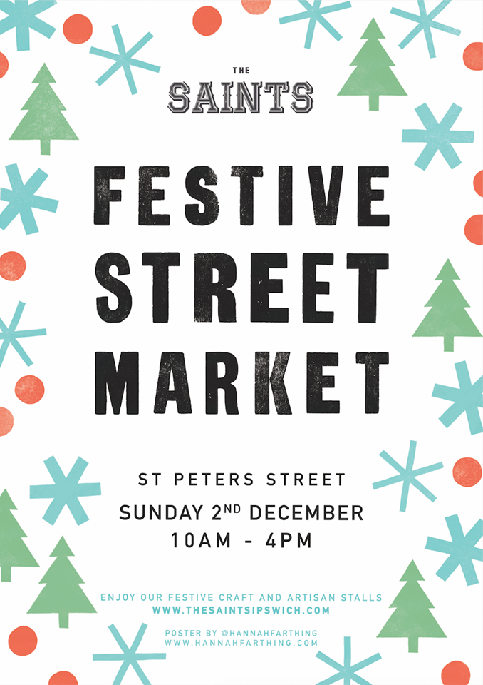 the saints festive street market december