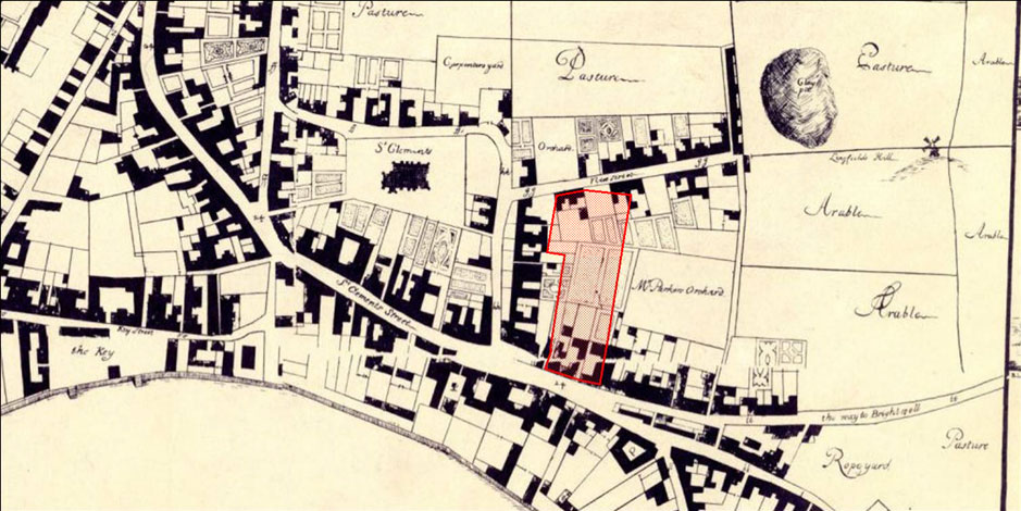 Section Through the Medieval Ditches