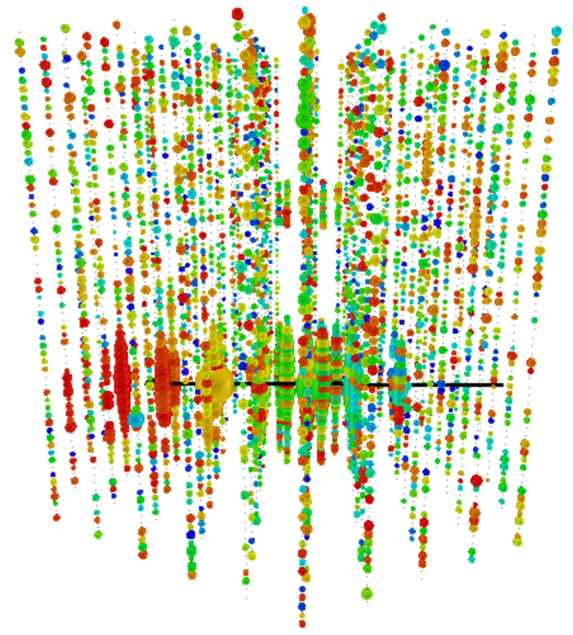 A simulated magnetic monopole detection