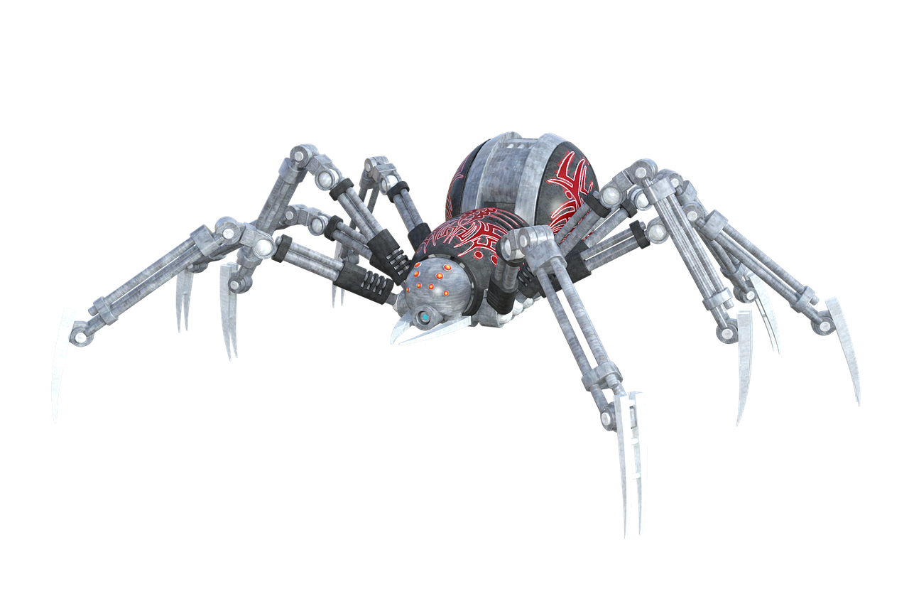 Artificial-Spider-Arachnid-Robot-Animal-1615195.png