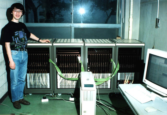 Jun Makino in 1995, with the GRAPE-4, the first Teraflops special purpose computer