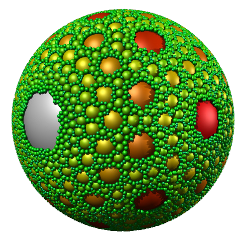 Multidimensional sphere-packing: how does it relate to the evolution of communication?  Image credit: Paul Bourke.