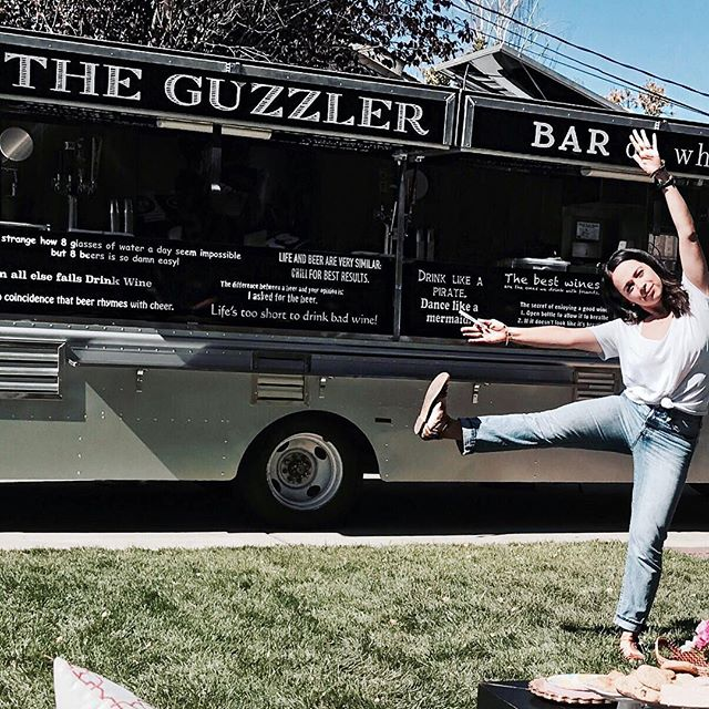 There is always something to celebrate when the Guzzler is around. Come see us tonight in #Orinda or tomorrow night in #WalnutCreek @towmarket #happydance #cheerforbeer