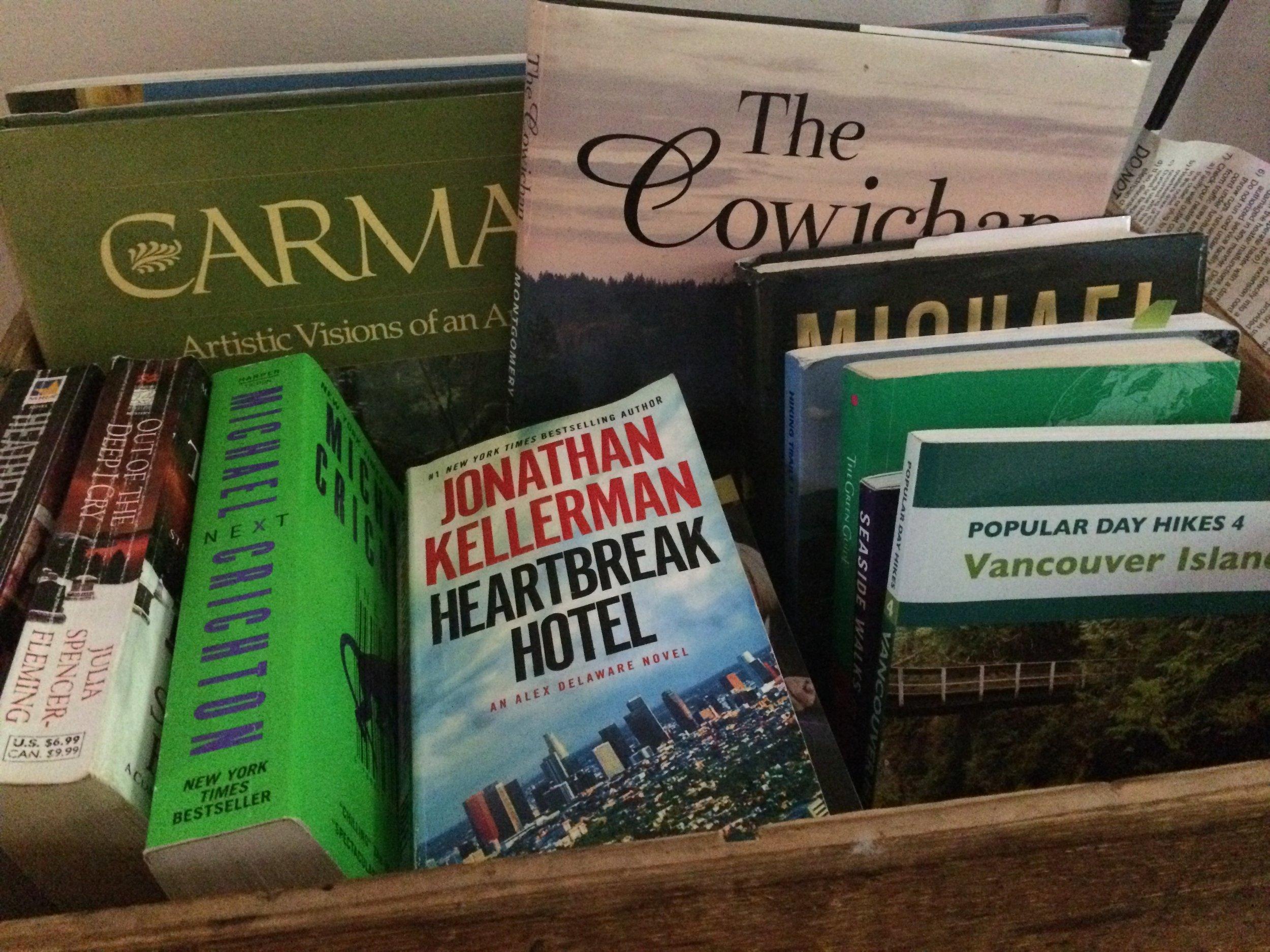 Farm table Inn B and B Books.JPG