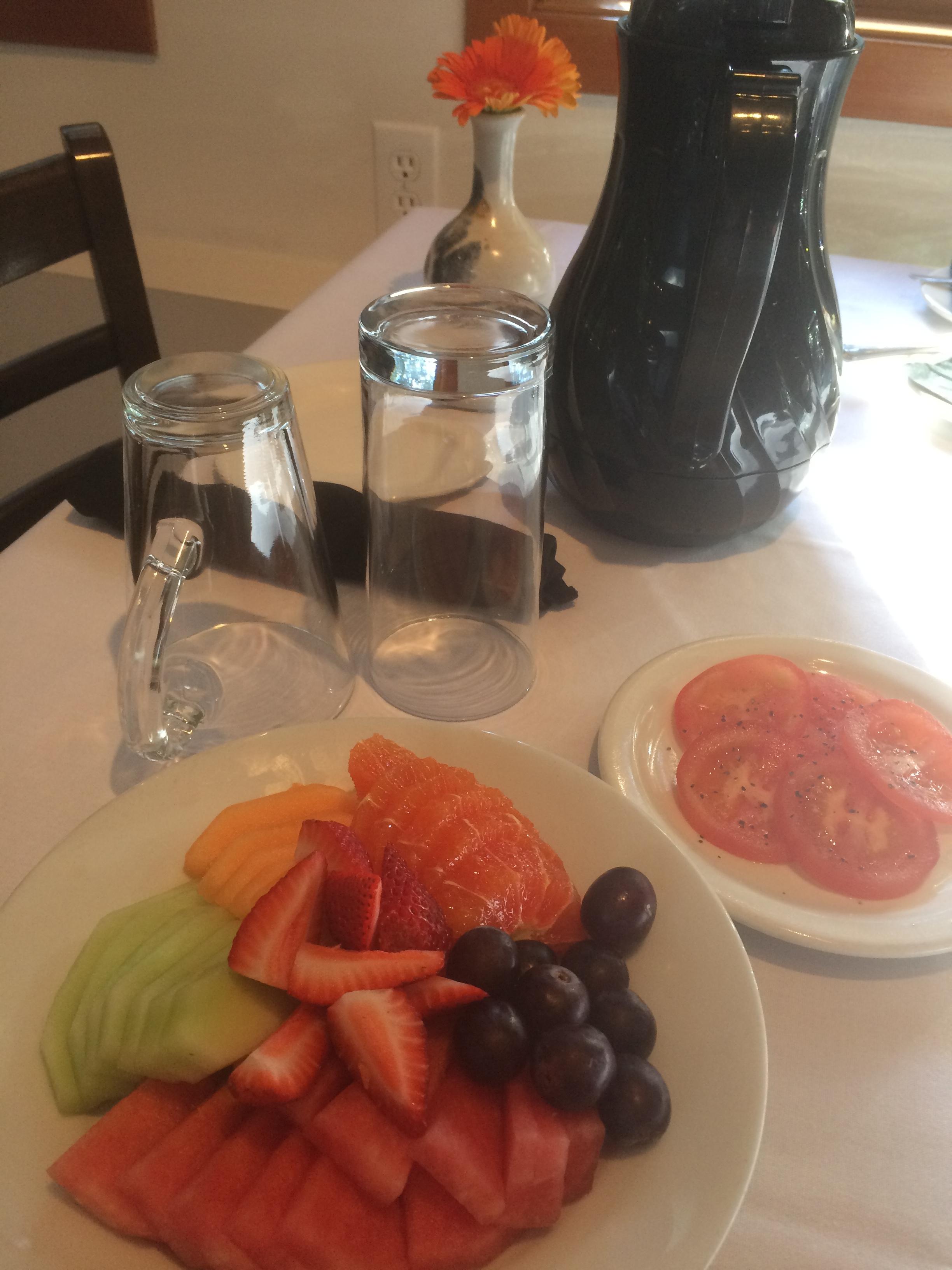 Farm Table Inn Breakfast with fruit.JPG
