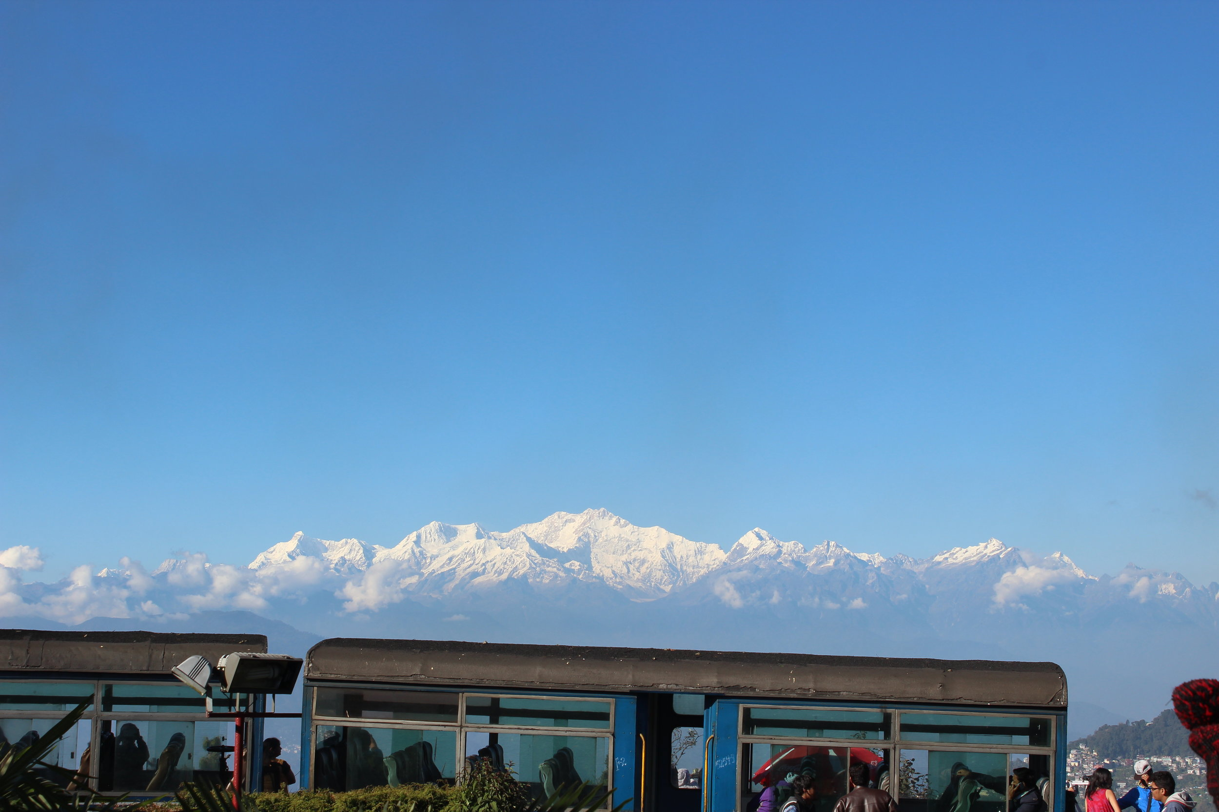 The view from the Darjeeling Himalayan Railway