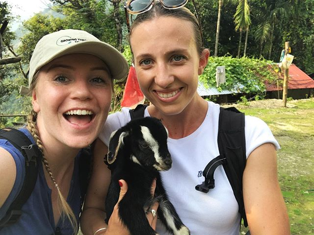 Exploring the villages in the Eastern Himalayas and finding cute baby goats to cuddle, does it get any better!? 😍