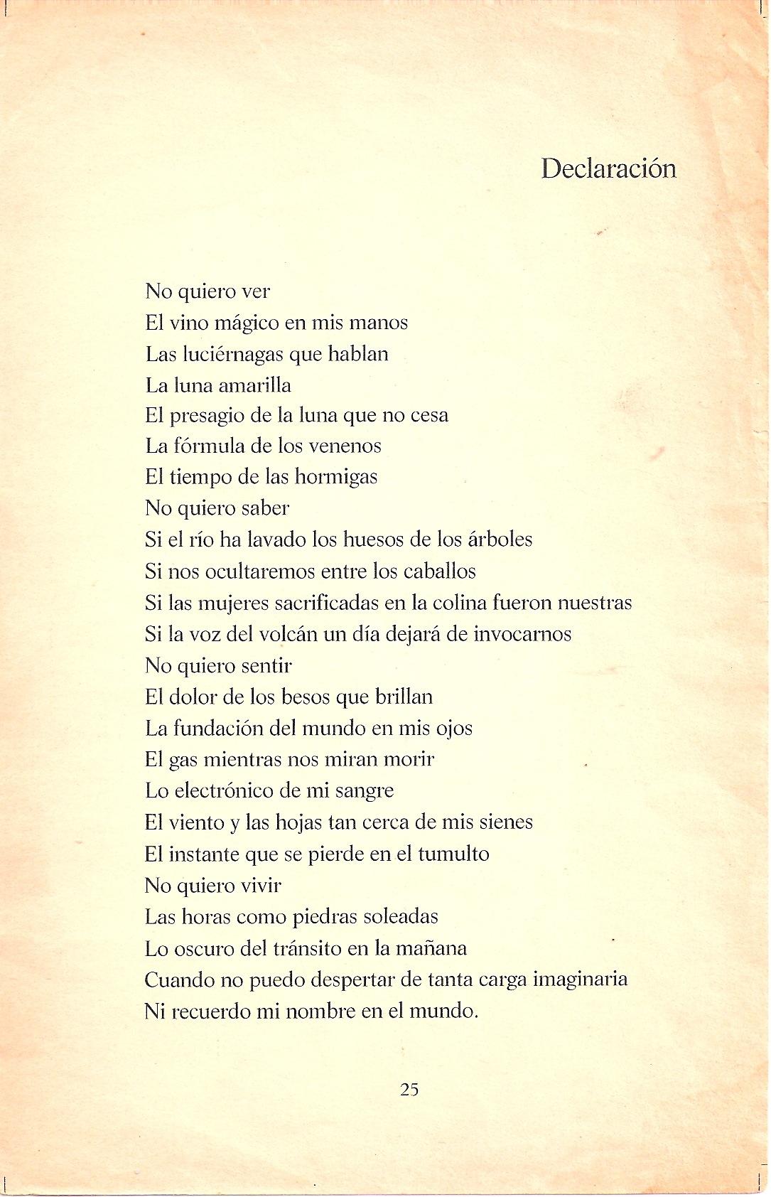 Poema del libro de Ezequiel Borges