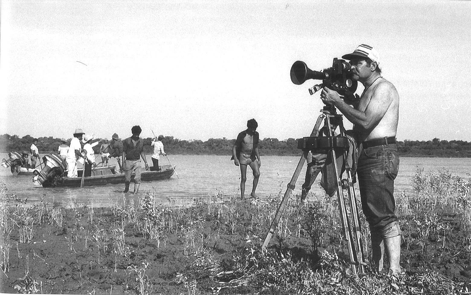 Pesca en el llano durante la filmación de  Caballo Salvaje  | Foto: Igor Barreto