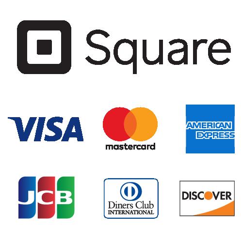 カードOK - お支払をスマートに. 各種クレジットカード、Suica、PASMOが使えます