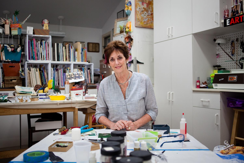 Marlene Alexander, at her studio