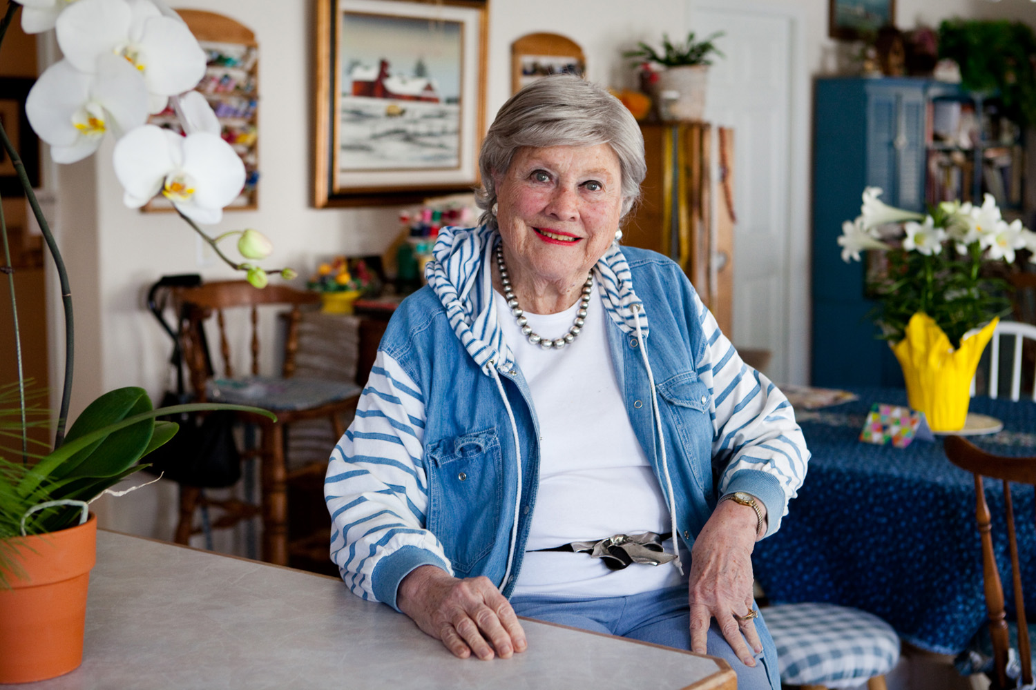 Harriet Langmas, 85, at her home