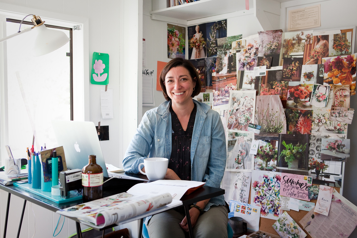 Summer Robbins-Sutter, 41, in her office at her studio