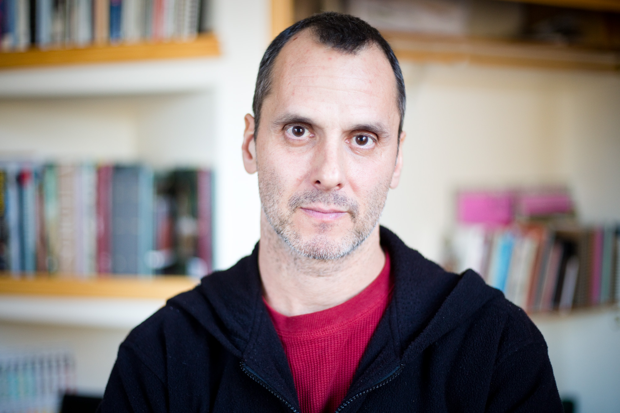 Ian Factor, 48, in his home studio