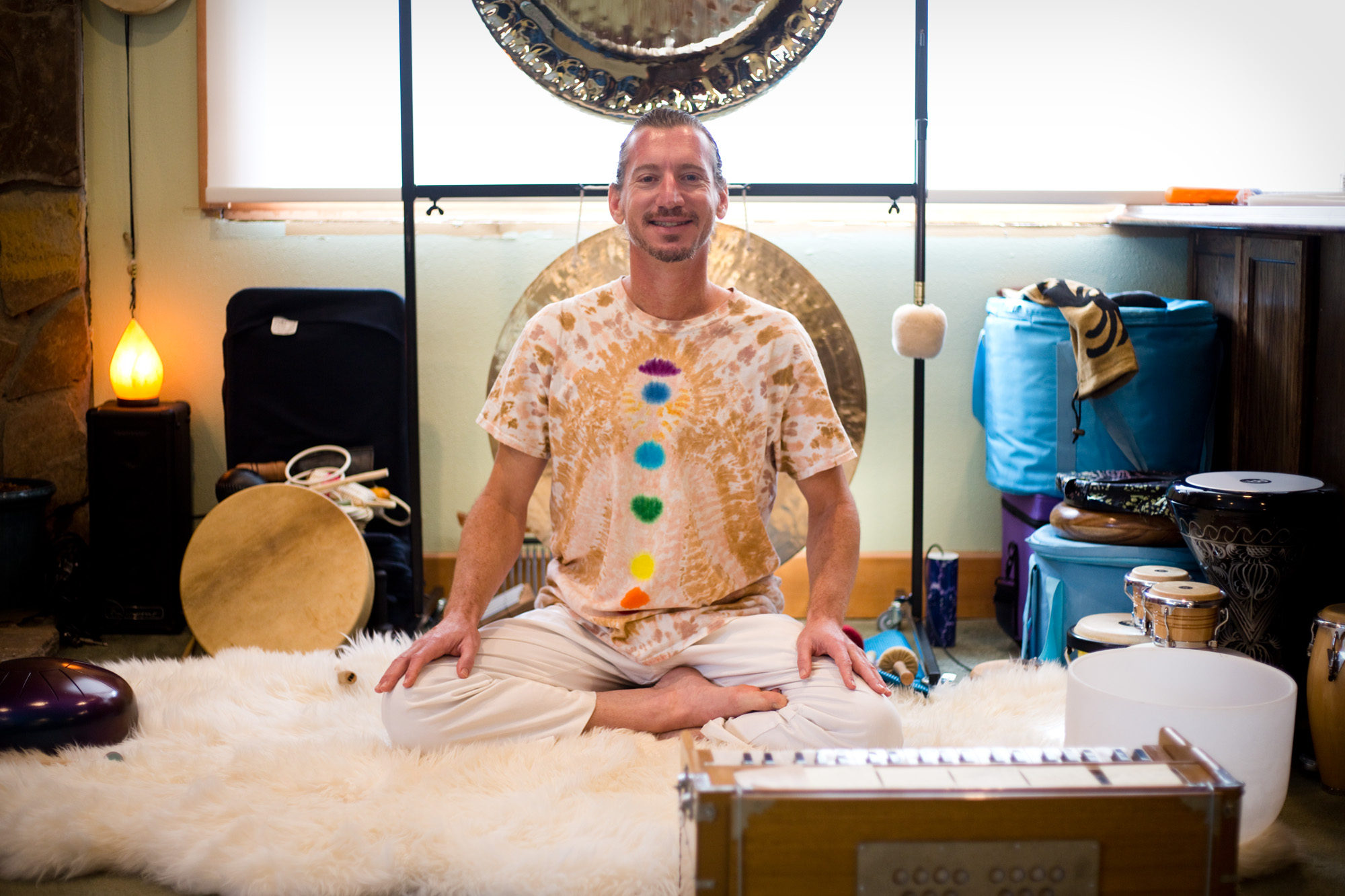 Kevin Kraft, 42, at his home