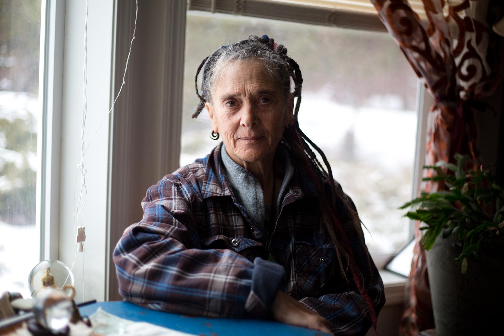 Hillary Hurst, 64, at her home