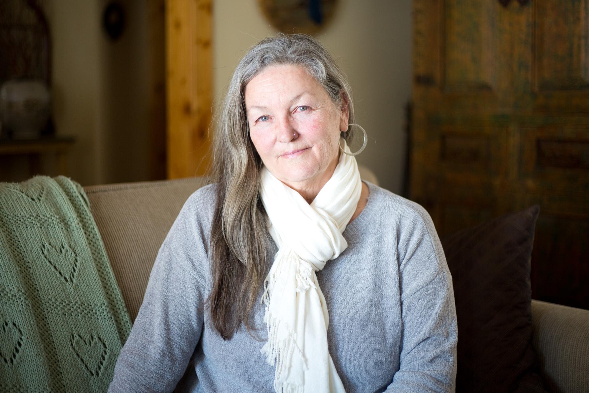 Katie Cavanaugh, 63, at her home