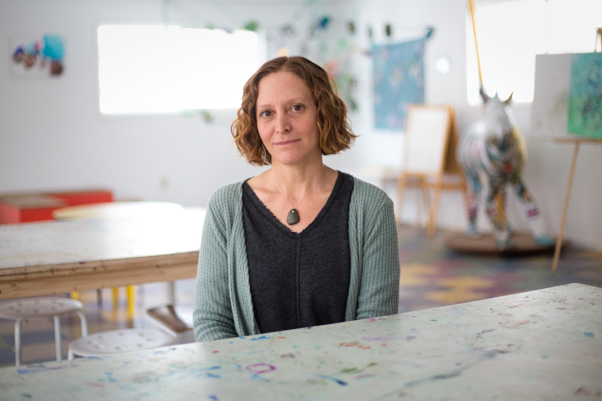 Darlene Becker, 43, at Base Camp Studio