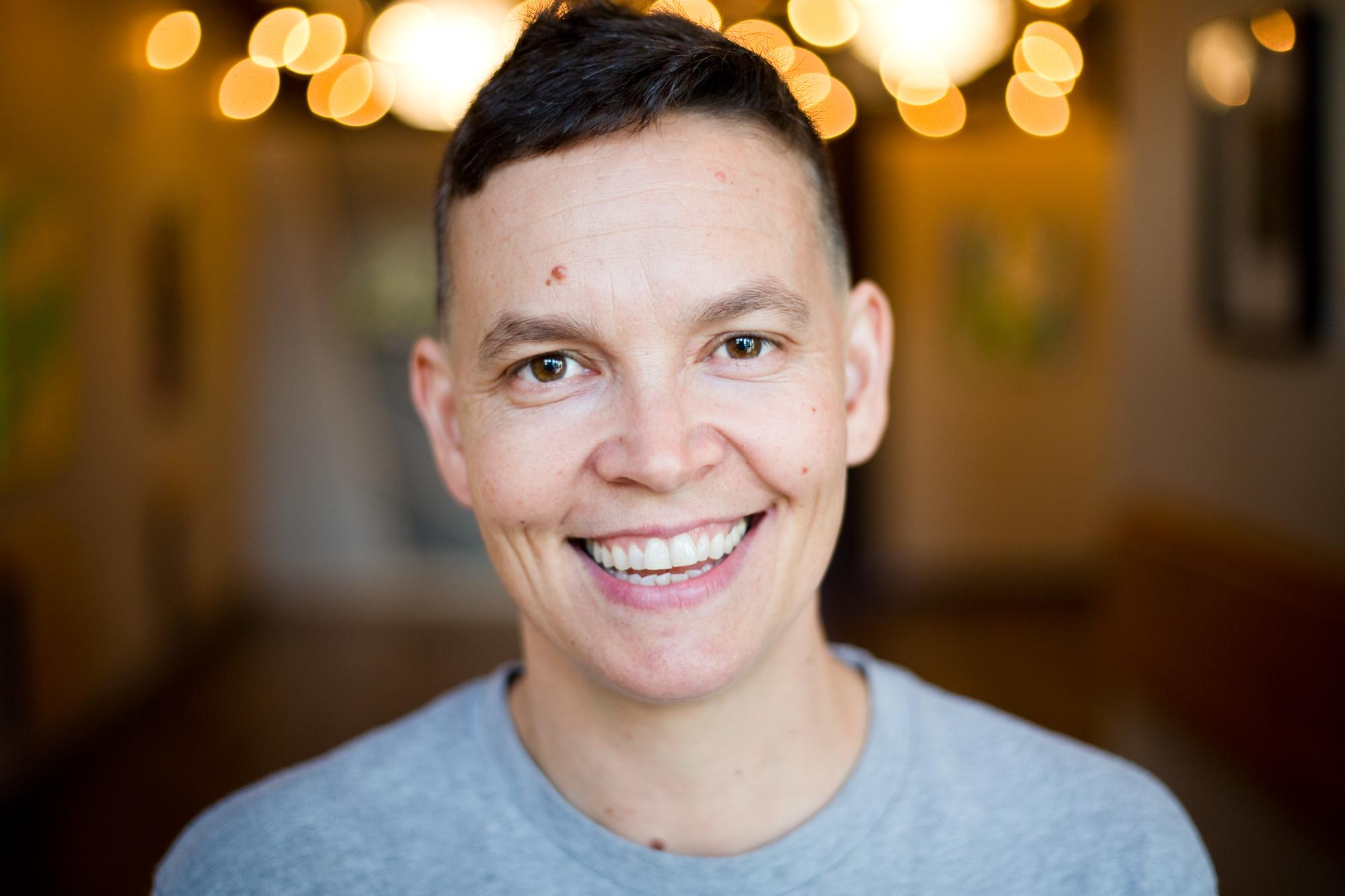 Amy Wright, 42, at Sunny Yoga Kitchen