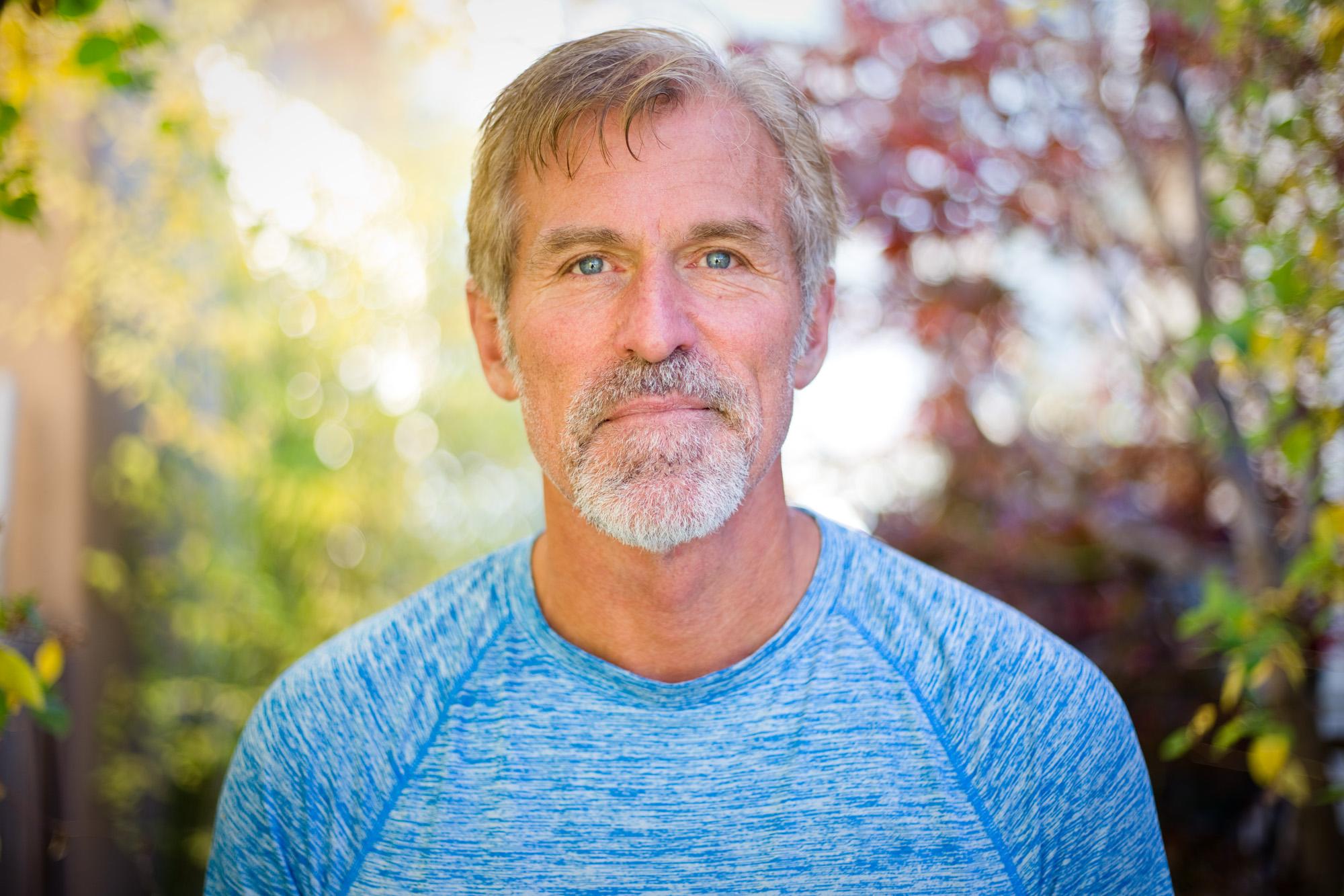Ian Trask, 60, outside