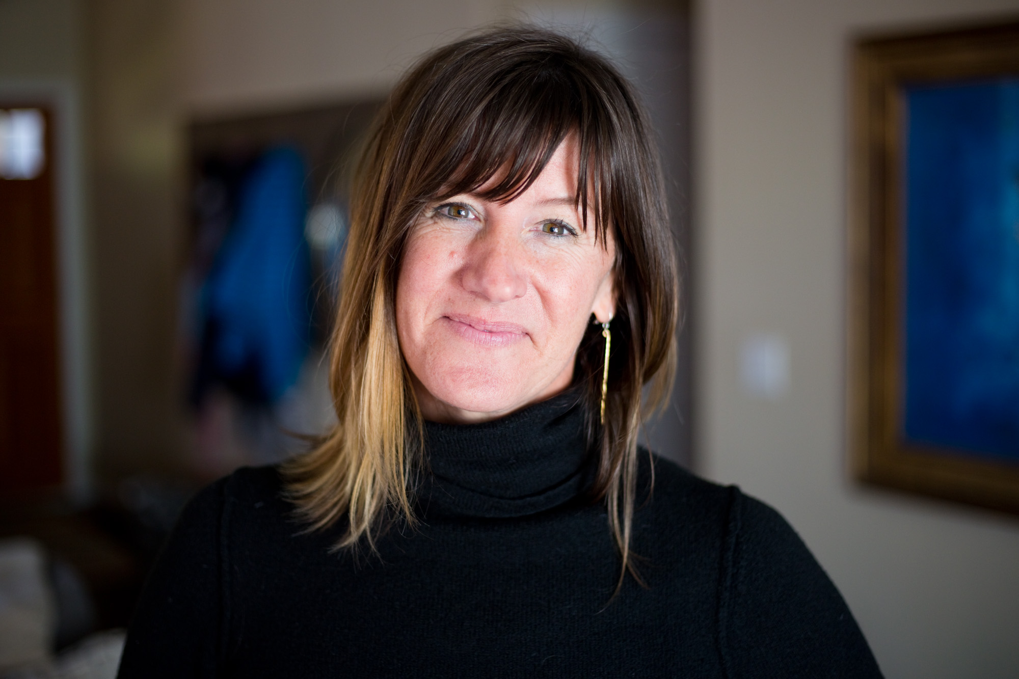 Jill Rose, 47, at her home