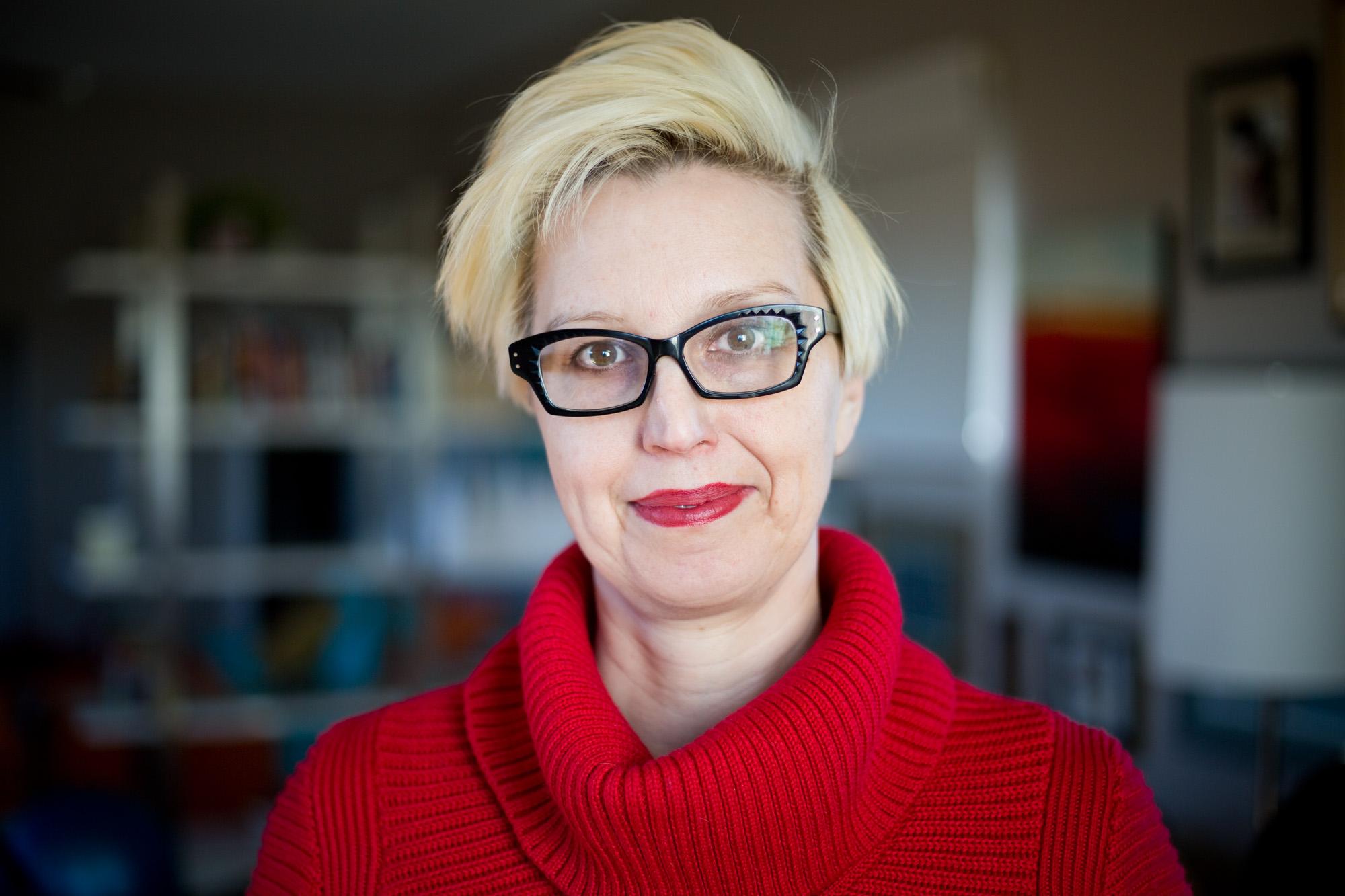 Leslie Blair Graham, 42, in her studio