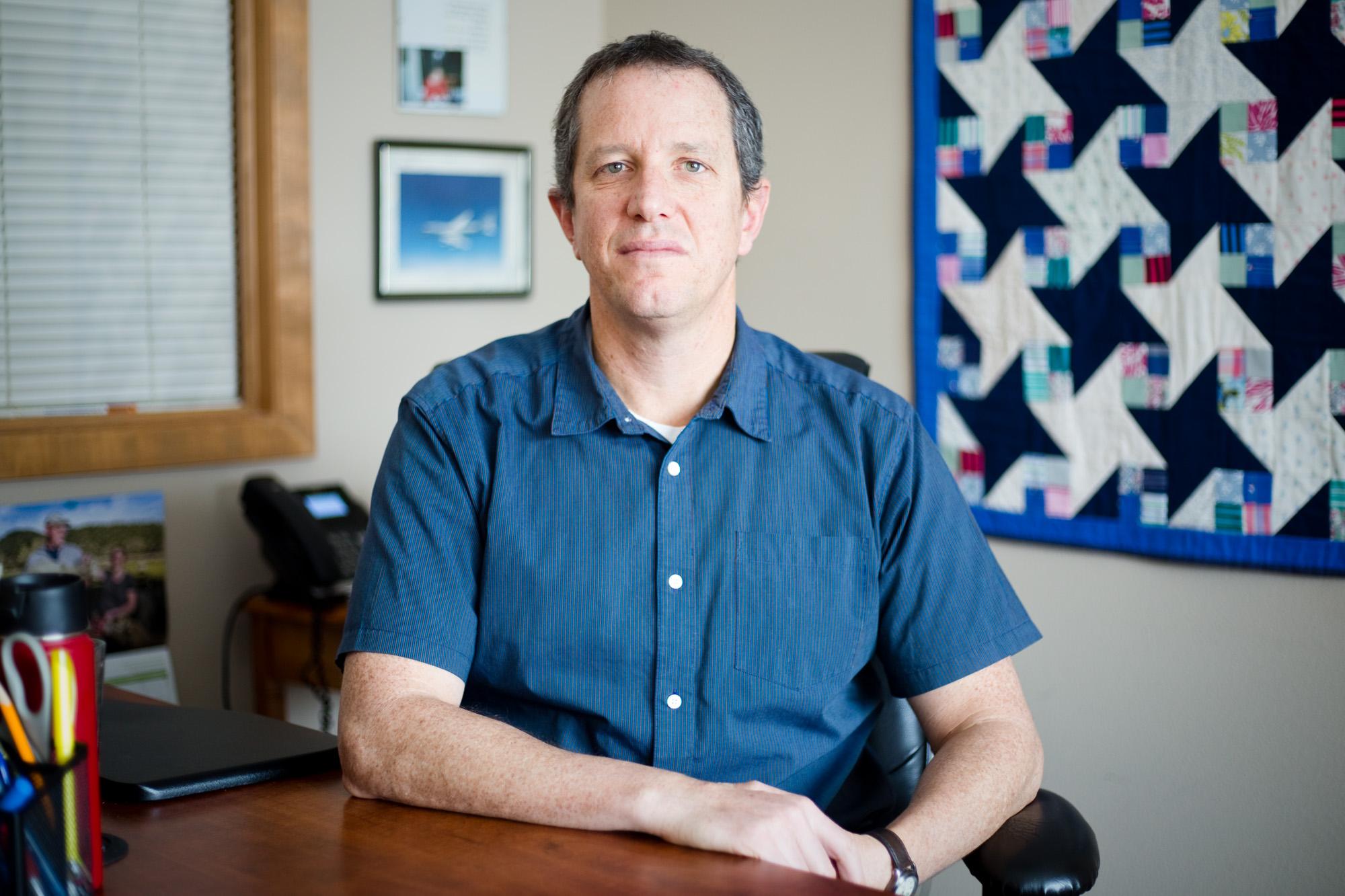 Ari Halpern, 45, at his office