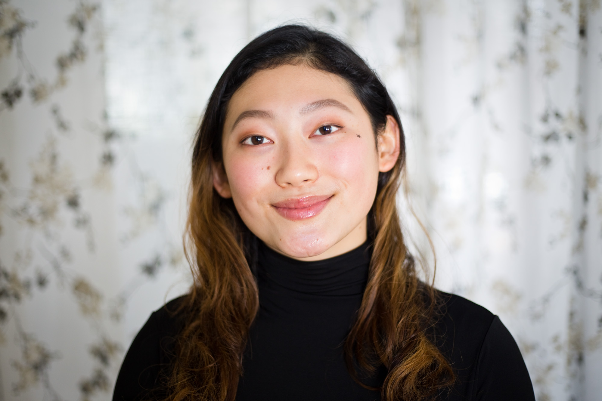 Joan Song, 17, at her home