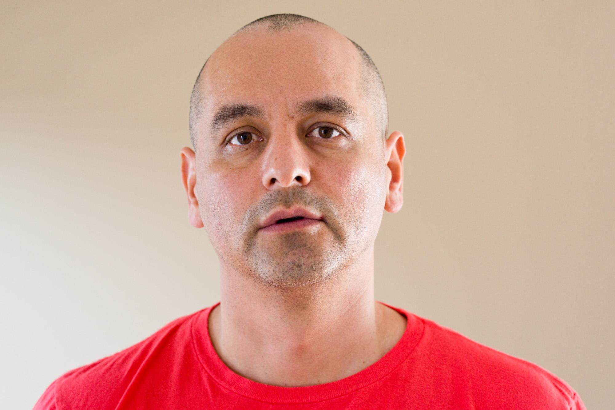 Carlos Salcedo, 42, at his office