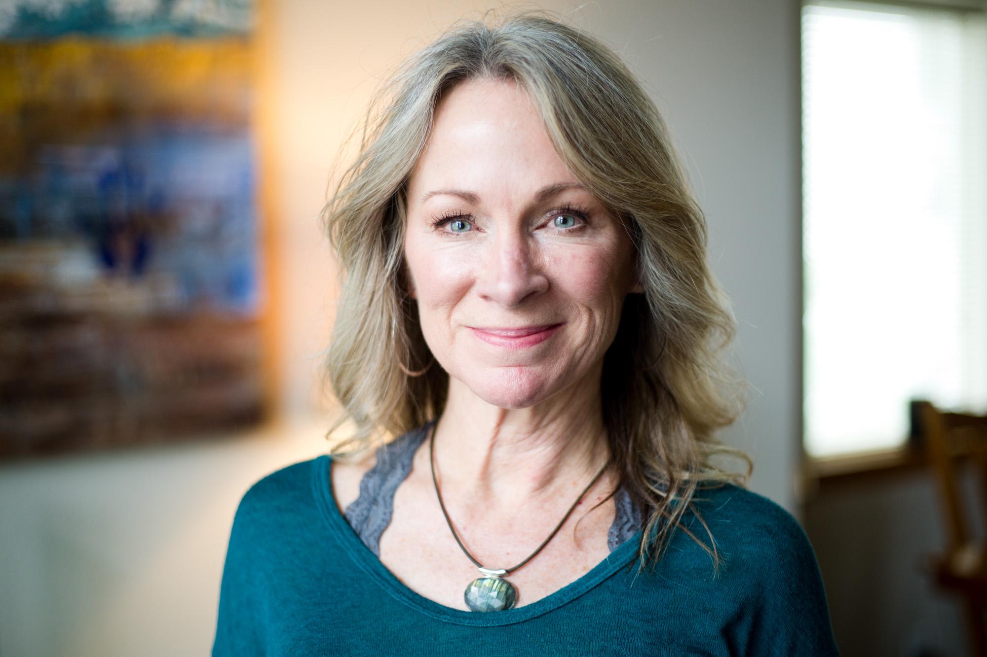 Tina Bollman, 57, at her home
