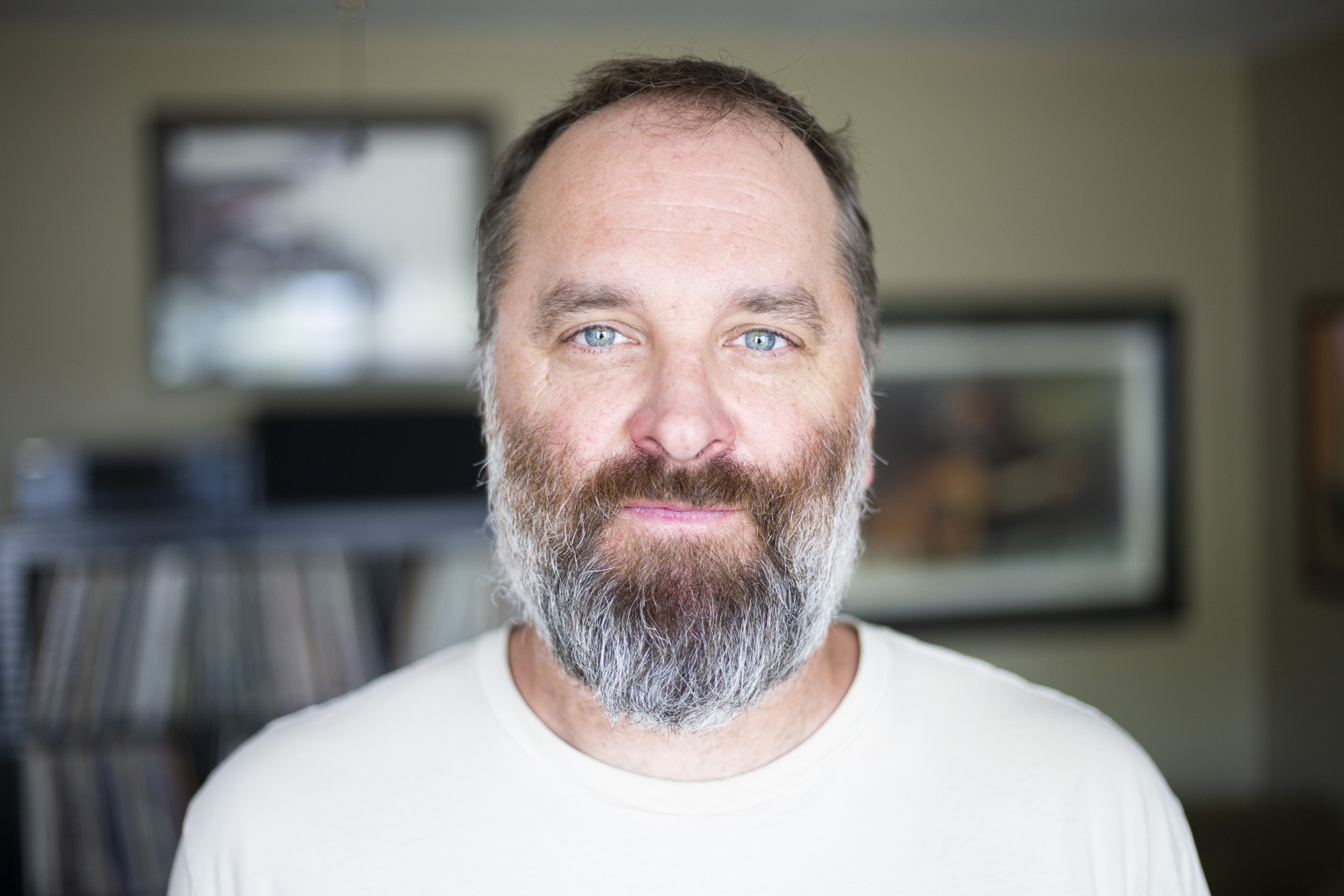 Gregg Morris, 47, at his home