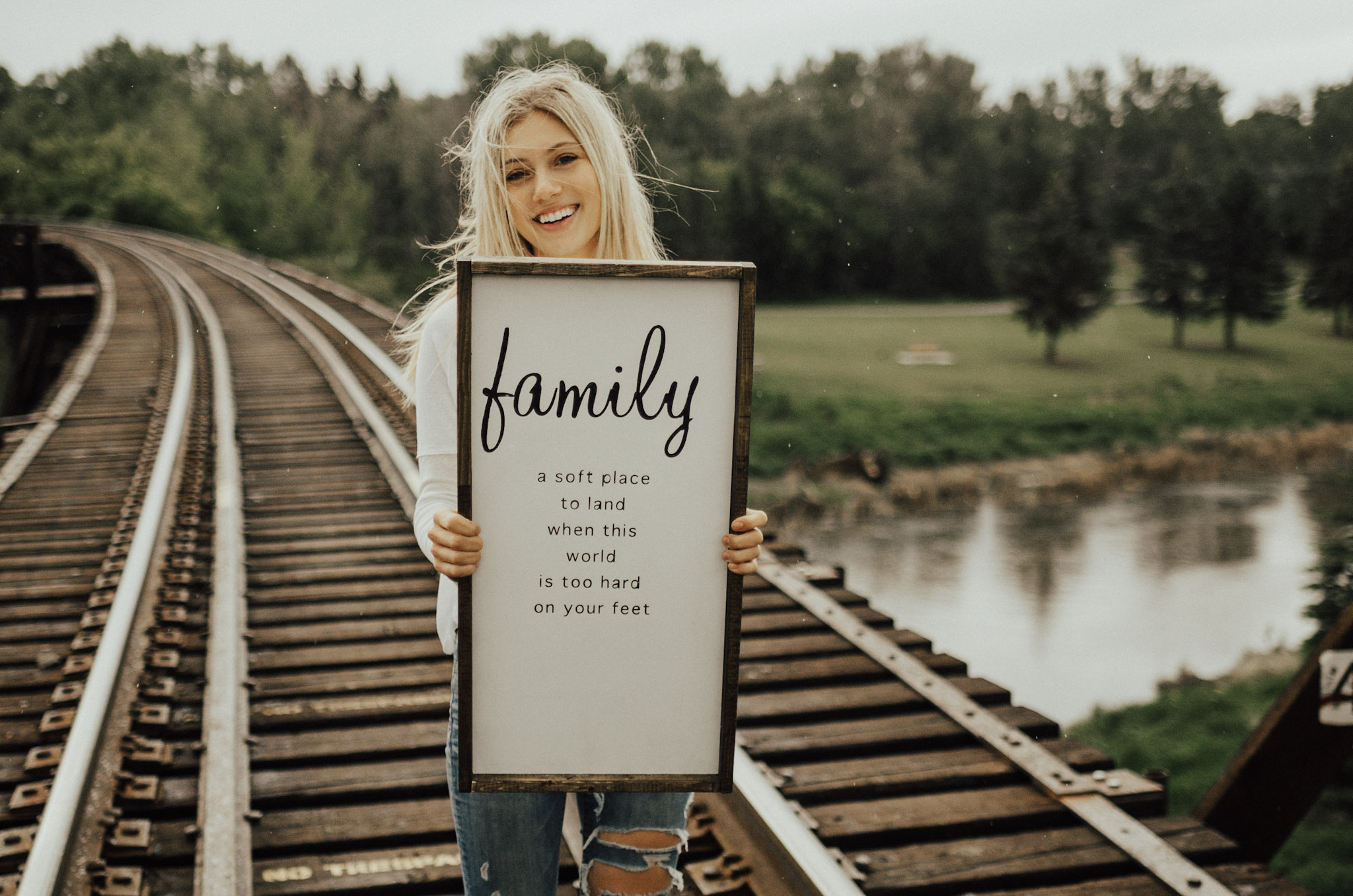 About - Writing has been a hobby of mine since I was a little girl. As I grew into young adulthood I discovered a new facet of writing, in the form of poetry. I wanted to combine my love for words and home decor, thus prompting me to start this handmade wooden sign business!