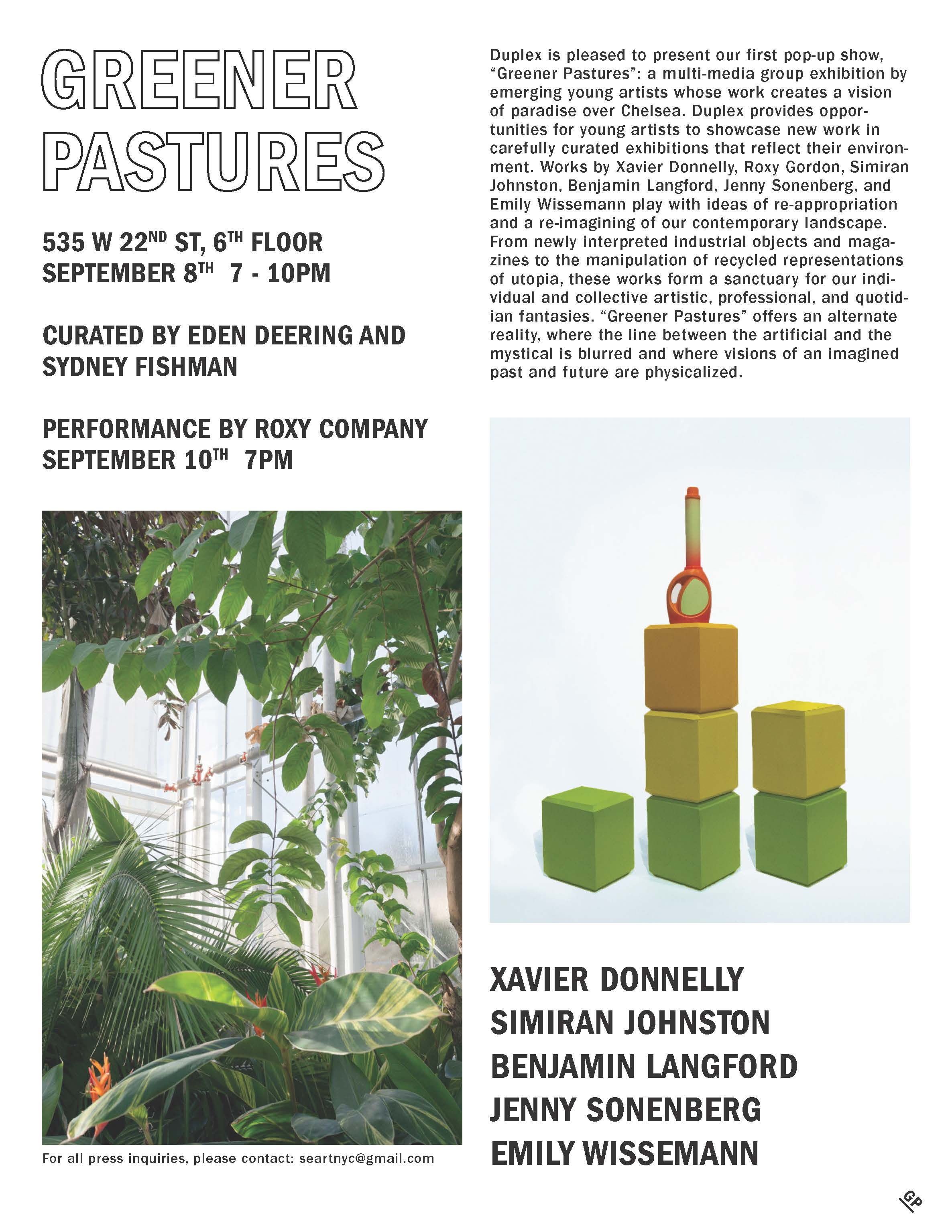 'Greener Pastures' Press Release